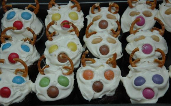 Piernikowe muffinki - Renifery