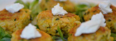 Burgery rybne z ryżem i dynią