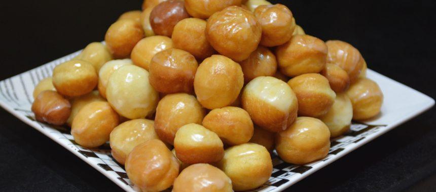 Pomarańczowe mini pączki