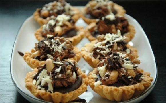 Tartaletki czekoladowo karmelowe