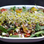 Sałatka z pomidorami, serami i kaparami