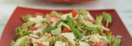lekka sałatka sezonowa pomidory mozzarella awokado