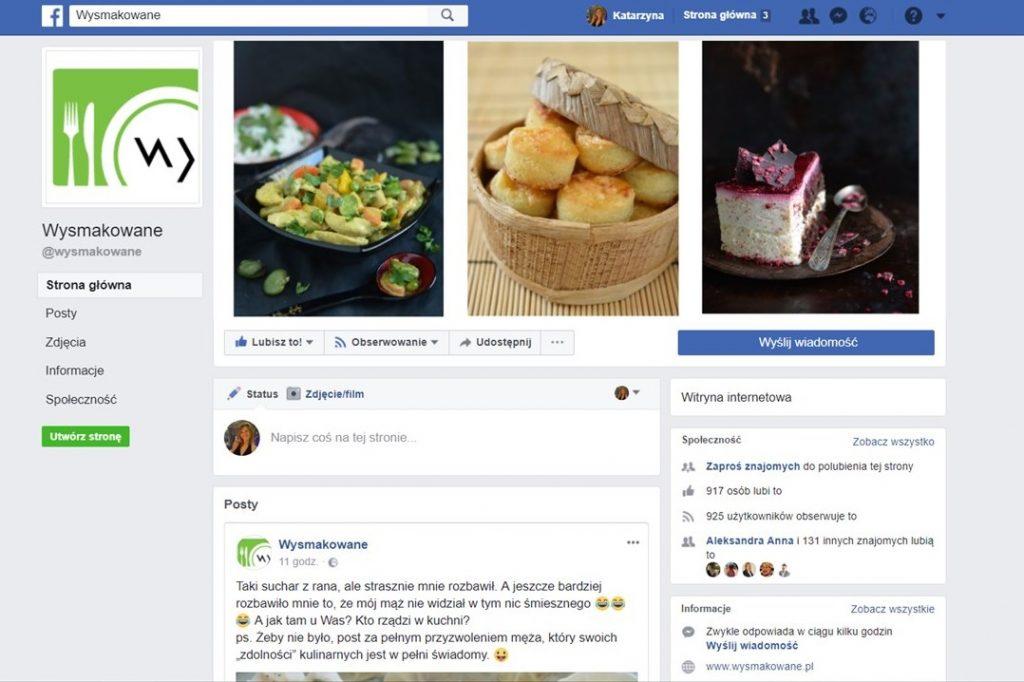 BLOG KULINARNY WSPÓŁPRACA wysmakowane.pl facebook