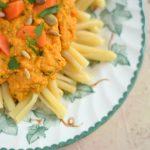 Makaron z pesto z marchewki