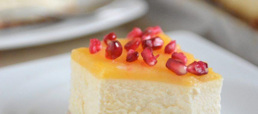 Cytrynowy sernik z lemon curd