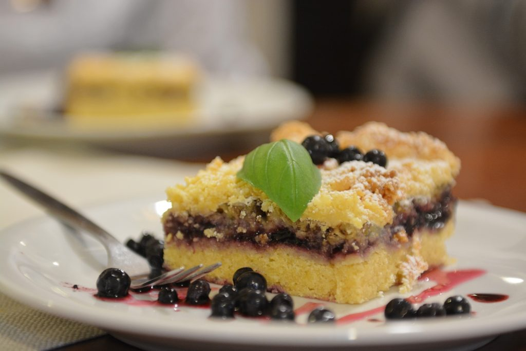 Ciasto z jagodami Mikolajki