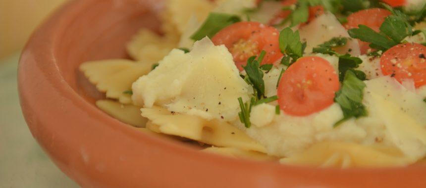 Kremowy sos z kalafiora do makaronu