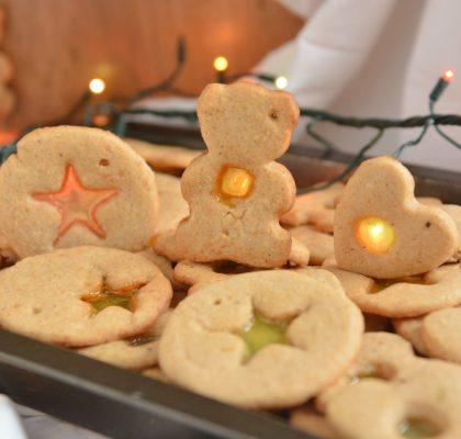 Pierniczki świąteczne z witrażykami