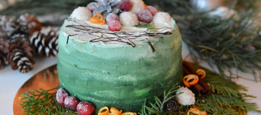 Zimowy tort ombre