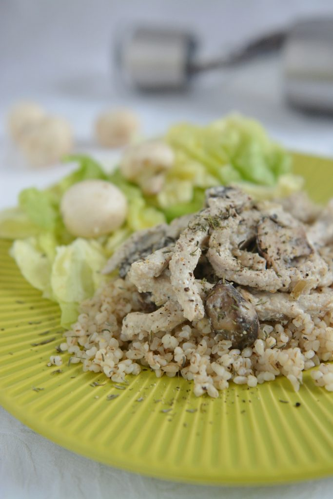 Schab z pieczarkami i tymiankiem – obiad ekspres
