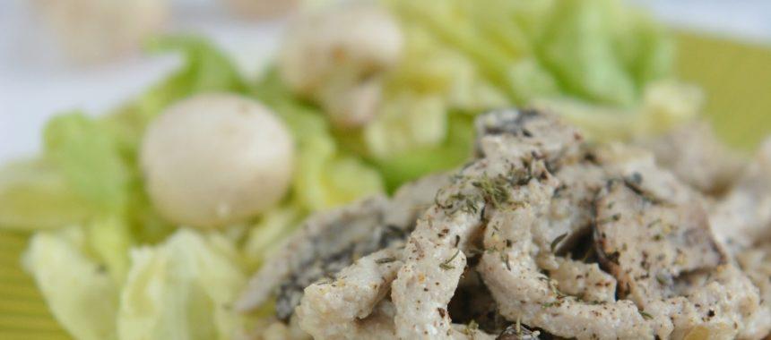 Mięciutki schab z pieczarkami i tymiankiem – szybki obiad
