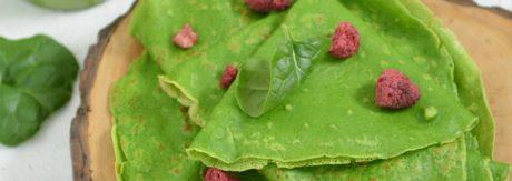 zielone naleśniki szpinakowe