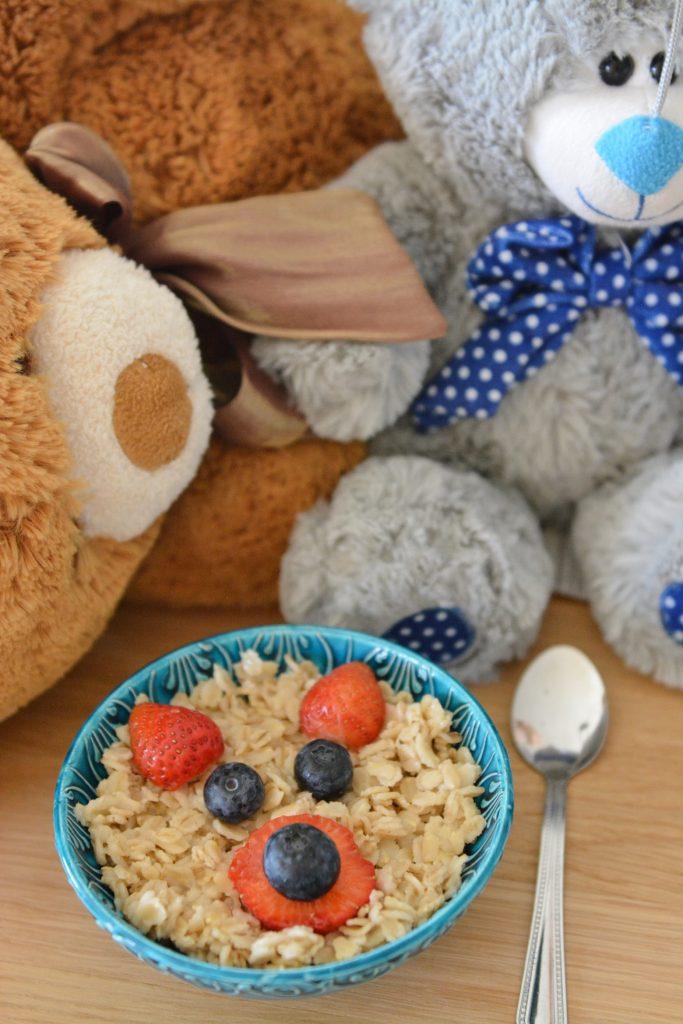 śniadania dla dzieci owsianka miś