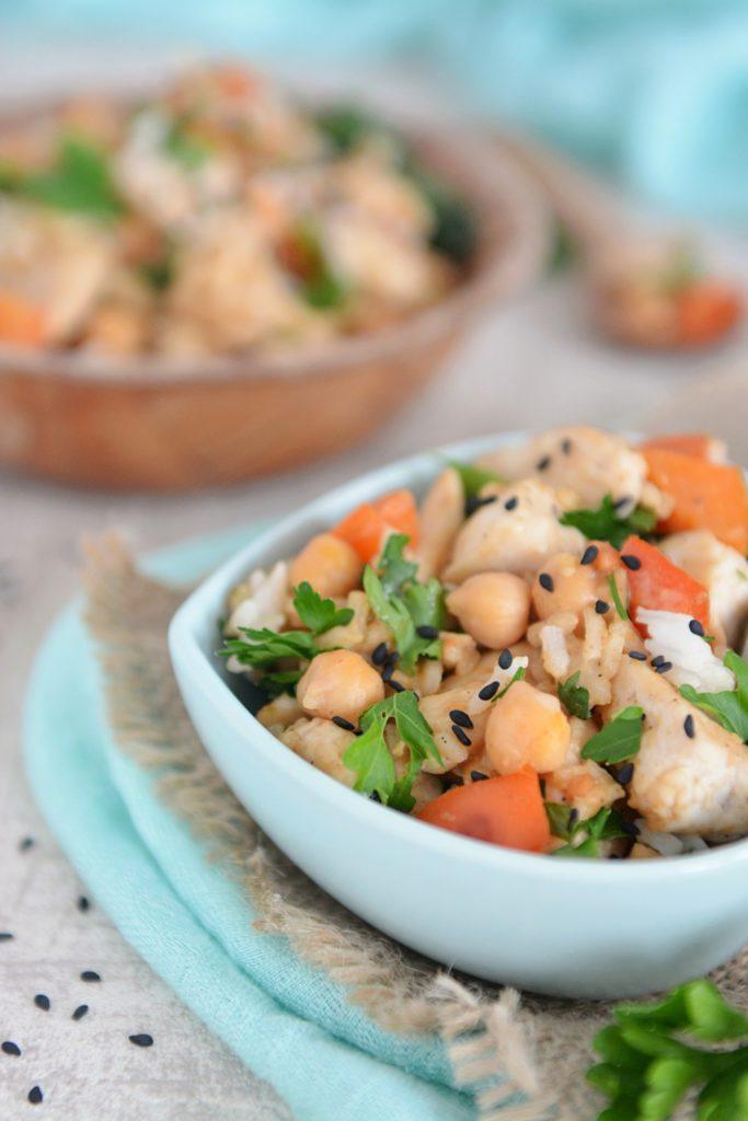 Obiady-ryż-z kurczakiem, papryką i cieciorką - obiad w 15 min1