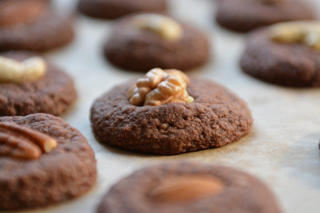 Czekoladowo - orzechowe ciasteczka