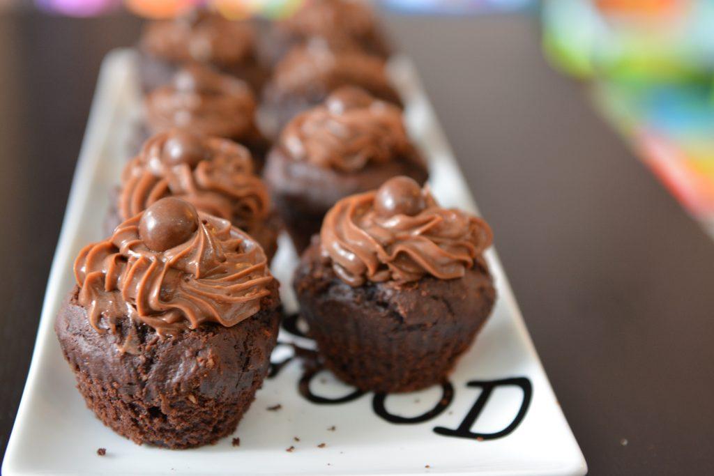 muffinki z musem z Nutelli
