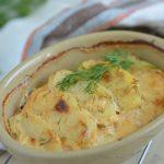 zapiekanka z łososiem i ziemniakami