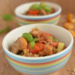 Kaszotto z polędwiczką i letnimi warzywami