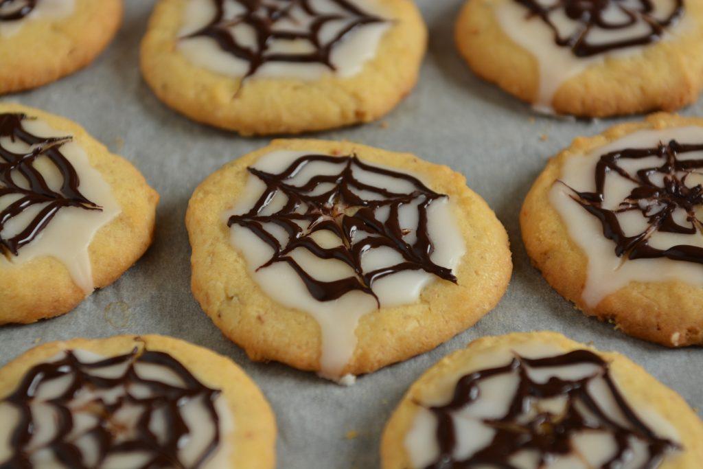ciasteczka na Halloween sieć pająka