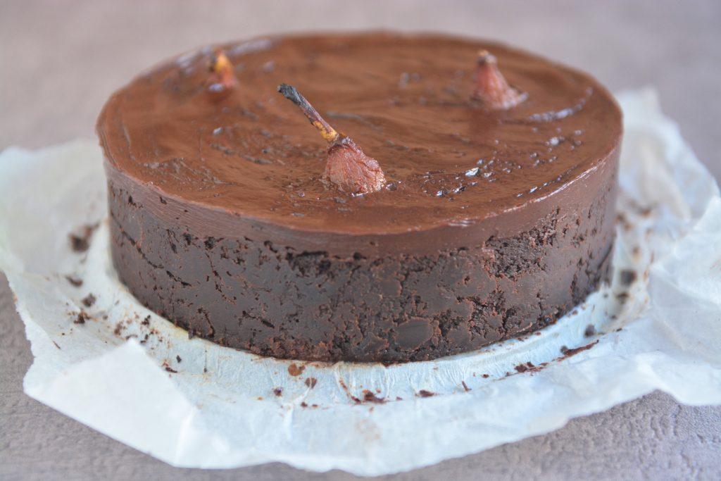 Mega czekoldowe ciasto z gruszkami