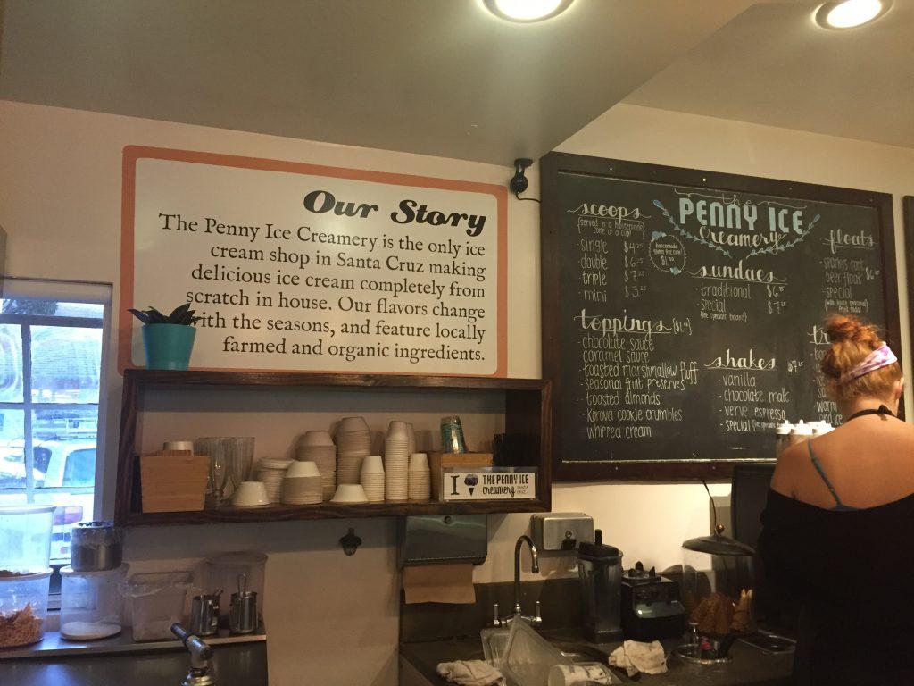 Penny Ice Creamery w Santa Cruz