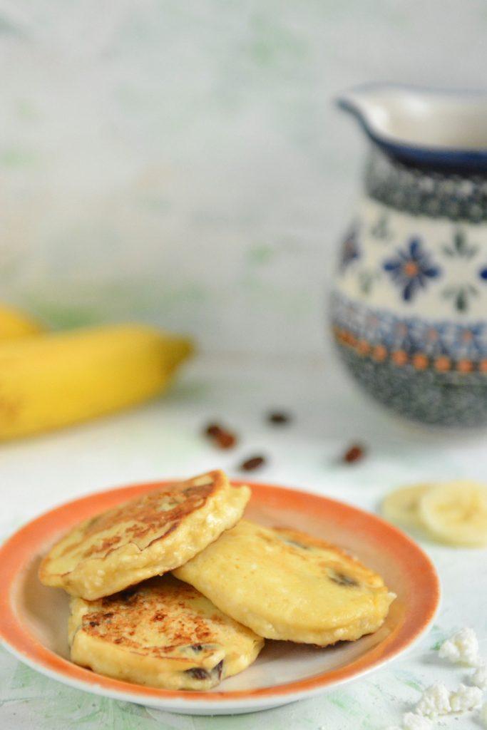 bananowe placki serowe