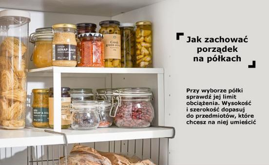 półki wewnętrzne w szafkach