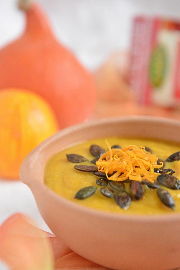Zupa krem z dyni z pomarańczą