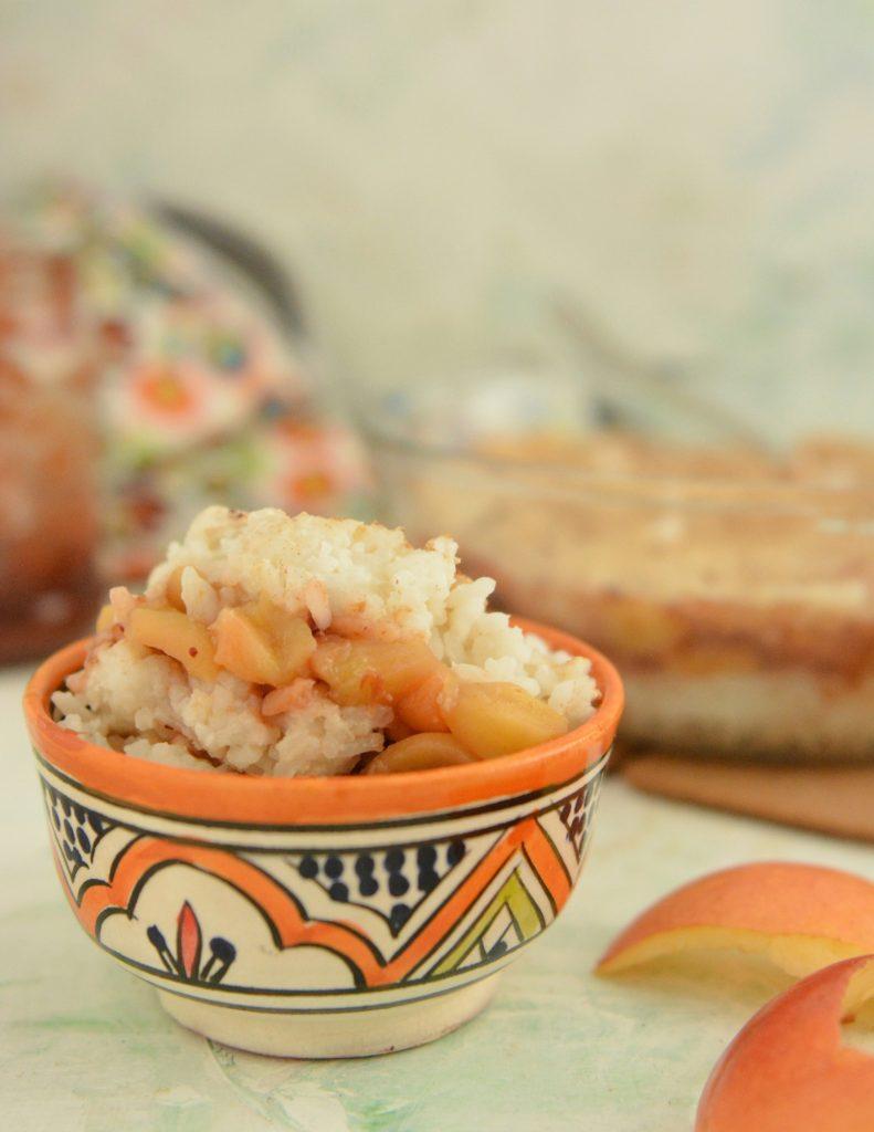 Ryż zapiekany z jabłkami bez śmietany