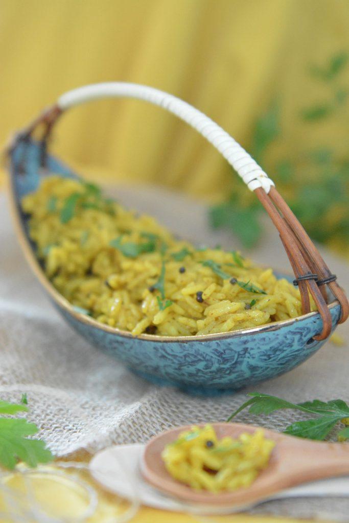 Indie: Ryż z kurkumą i kuminem