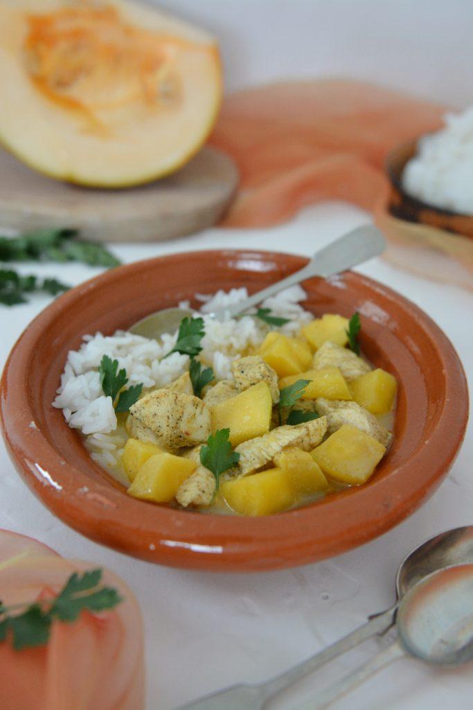 Curry z dynią i kurczakiem