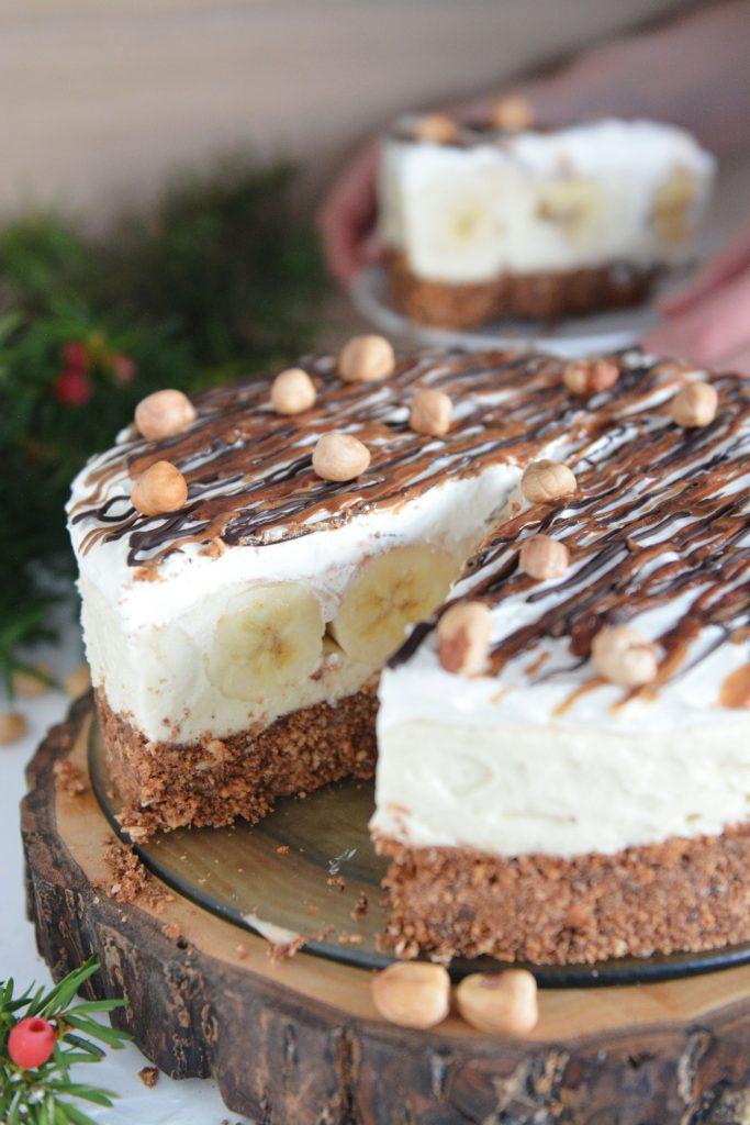 ciasto orzechowe z bananami bez pieczenia