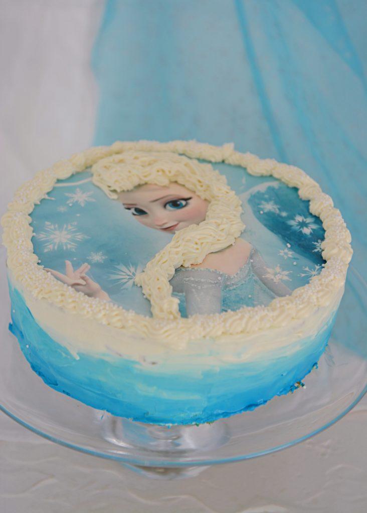 tort marchewkowy włosy elsa kraina lodu