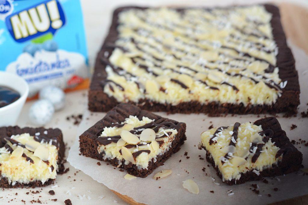 masa kokosowa i czekolada mazurek