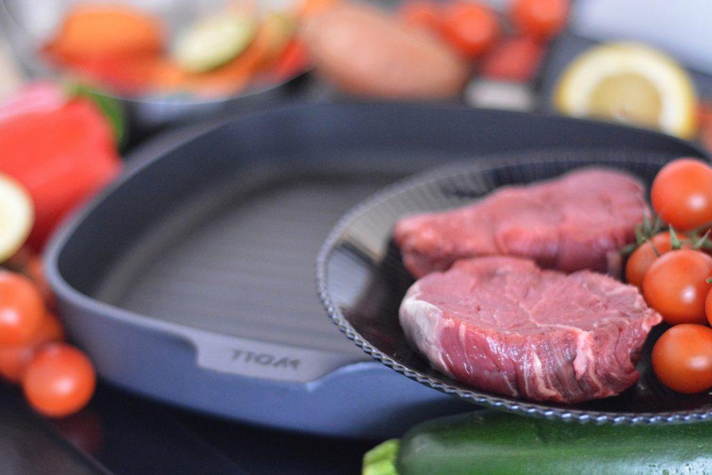 stek z polędwicy wołowej z patelni