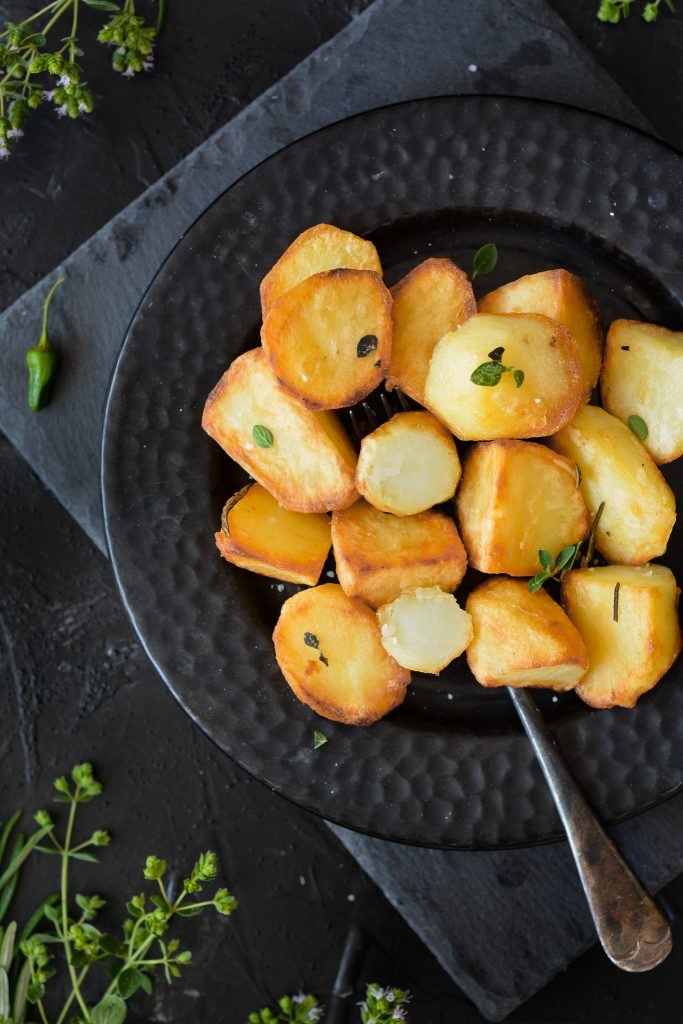 chrupiące ziemniaki z patelni