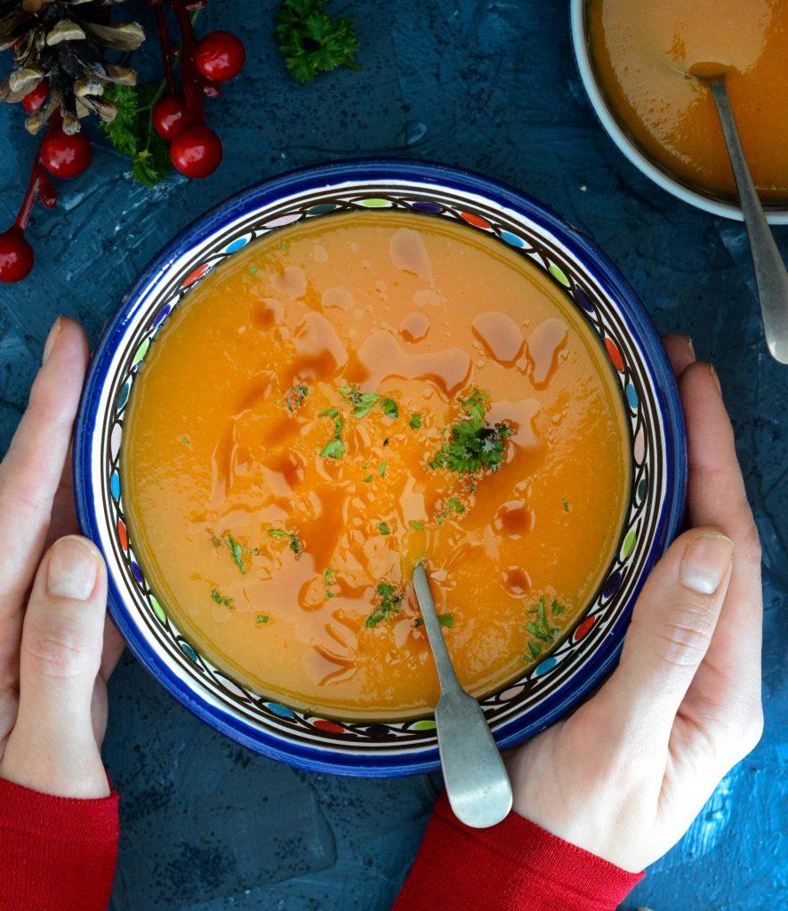 Zupa dyniowa z imbirem i pomarańczą