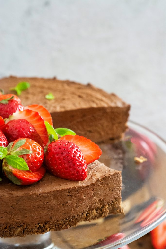 czekoladowy sernik na zimno