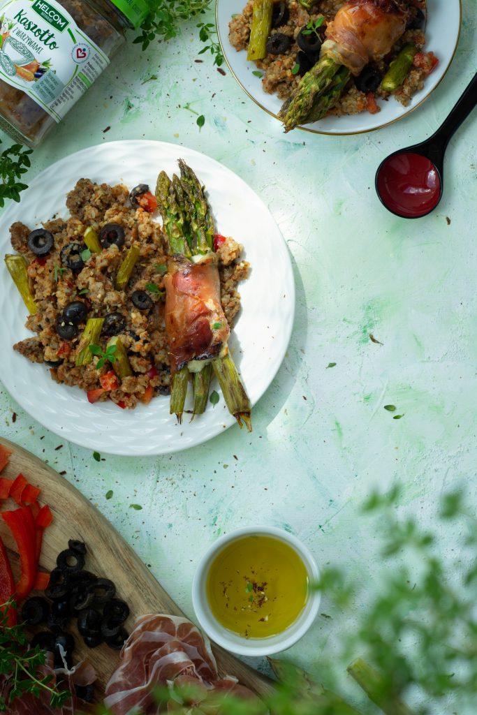 szybki obiad kaszotto szparagi