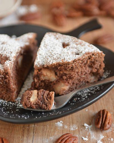 Kakaowe Ciasto Amerykaniec z jabłkami