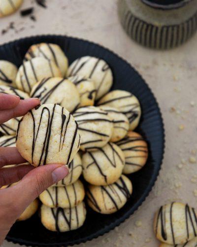 Ciasteczka cytrynowe w cukrowej posypce