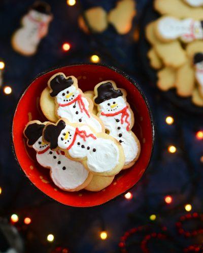 Świąteczne ciasteczka bałwanki