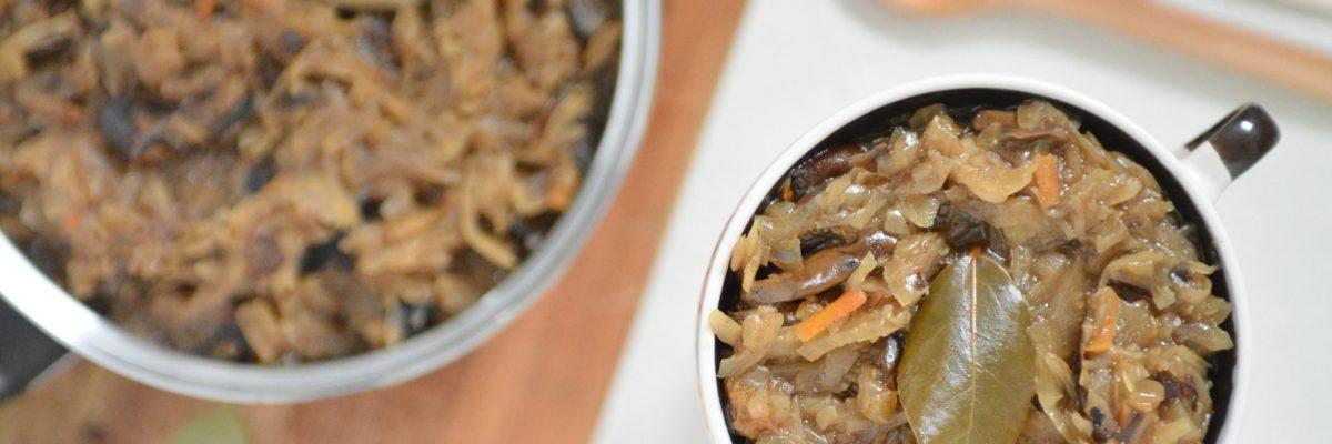 Kapusta wigilijna grzybami – smak Świąt