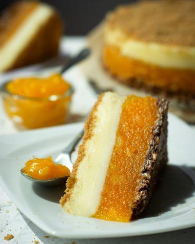 FIT ciasto bez pieczenia Mango & Budyń