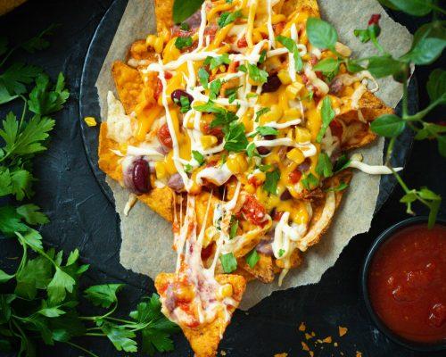 meksykańskie nachosy zapiekane z serem