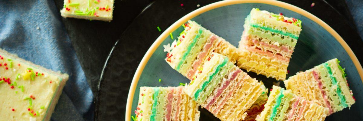 Kolorowe wafle z galaretką