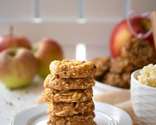 Ciasteczka z kaszy jaglanej z jabłkami