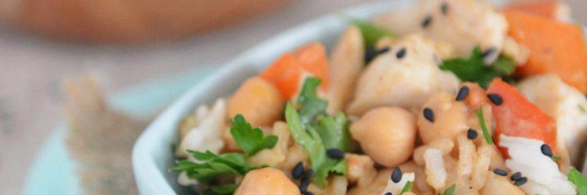 Ryż z kurczakiem w sosie orzechowym