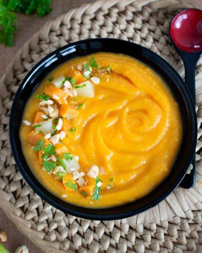 zupa krem z batatów z gruszkami