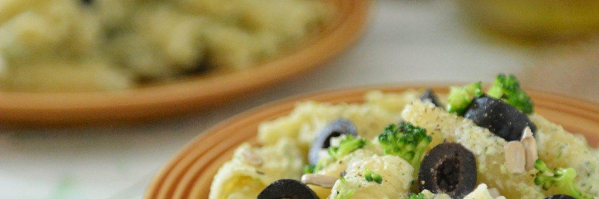 makaron z kremem z brokuła